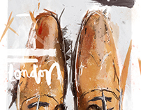 London Brogue Shoe Digital Painting