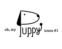 Simple icon design ) oh, my puppy #1