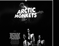 Arcticmonkeys.com Redesign