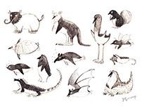 sketch book-animals