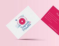 Logotipo • Viajando com Mirella