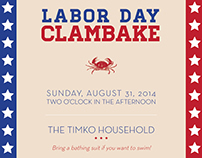 Labor Day Clam Bake Invitation
