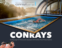 Design of landing page for fitness pools