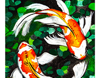 Watercolor 3 - Koi Pond