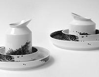 Guinea hen porcelain set
