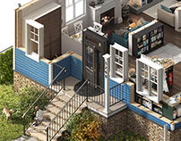 GEICO — Home Protection — Animated House Cutaway Images