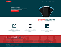 Dual Color Corporate site Template - Home Page Design