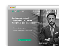 Landing Page for law agency