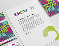 KNOW. Stationery and Style Guide Design