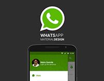 WhatsApp | Material Design Concept