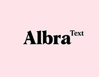 Alba Text Typeface