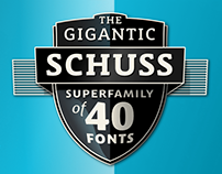 Schuss Sans, Slab, News And Serif – My Superfamily