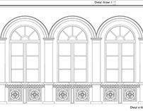 Detale pałacu w Łobzowie