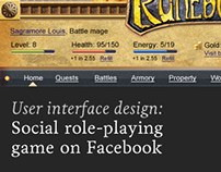 Social role-playing game on Facebook