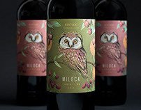 MILOCA wine label