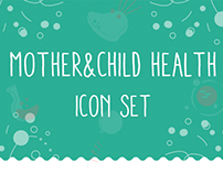 Mother & Child Health Icon Set