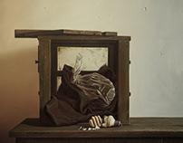 """""""Black still-life"""" 80х80 oil on canvas 2014"""