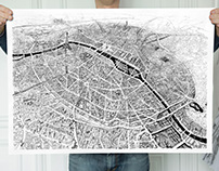 PARIS CITY MAP - LTD EDITION PRINT - SOLD OUT