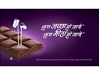 Multilingual Calligraphy for Cadbury Dairy Milk