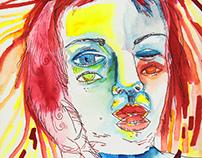 Ilustrações com vários olhos