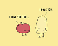 Love Story tomato & potato : illustration