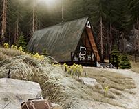 A-FRAME HOUSE CGI