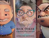 Character Modeling Showreel