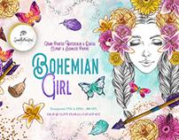 Bohemian Girl digital asset pack