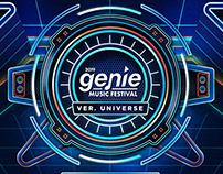 genie music festival poster design