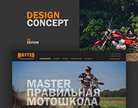 Motoschool (website design concept)