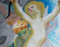 Ange, 2016 (100*80 cm Acrylique)