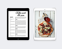 Tablet Simple Food Magazine