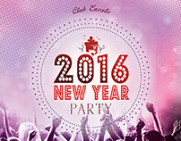 2016 New Year Party Flyer Poster