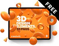 Free 3D design elements