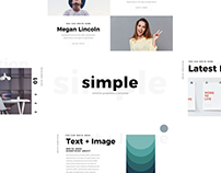 FREE Simple Minimal Keynote Template by Louis Twelve