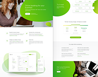 Scheduling service landing page