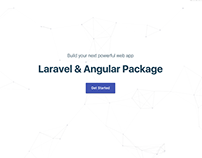 Laravel & Angular Package | Landing Page