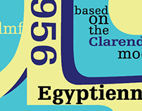 Egyptienne Typespread