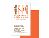 Babywearing International Logo Design and Business Card