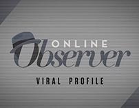 """Title Card Design: """"Online Observer"""""""