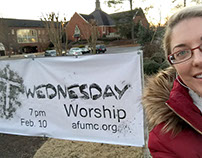 Ash Wednesday Outdoor Signage
