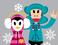 Winter Themed Style Guide for Paul Frank
