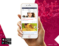 Flyer divulgação app Algarve Eventos