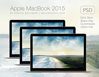 Apple MacBook 2015 Mockup PSD