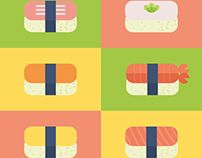 Flat Sushi Set
