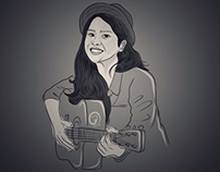 Maudy Ayunda Illustration