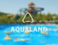 aqualand logo design