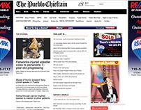 Pueblo Chieftain web design