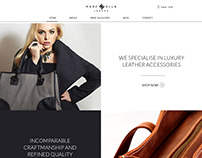 Home page design for Shopify store