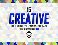 15 Creative High Quality Fonts Package Free Download